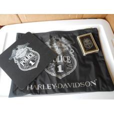 Harley Davidson Police set: mousepad, bag, cards