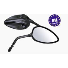 EU Approved Black Mirrors for Harley-Davidson E-mark by Zodiac
