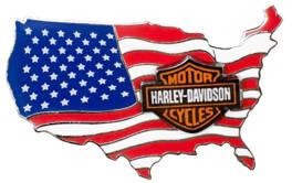 Harley-Davidson® American Flag USA Logo Pin On Pin, 1.75 x 1 inch ...